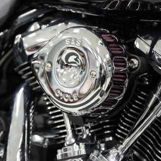 S&S MINI STEALTH TEARDROP CHROME AIR FILTER FOR HARLEY TOURING 2017-2020 - ENGINE