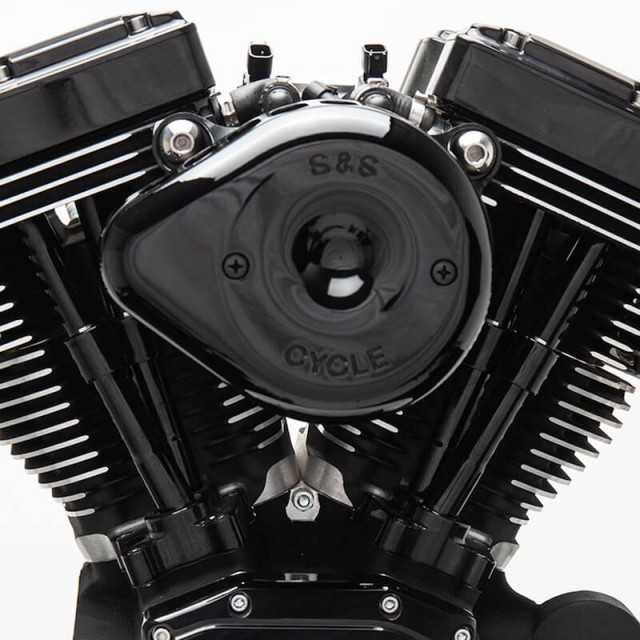 S&S MINI STEALTH TEARDROP BLACK AIR FILTER FOR HARLEY TOURING 2017-2020 - ZOOM