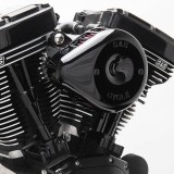 S&S MINI STEALTH TEARDROP BLACK AIR FILTER FOR HARLEY TOURING 2017-2020 - DETAIL