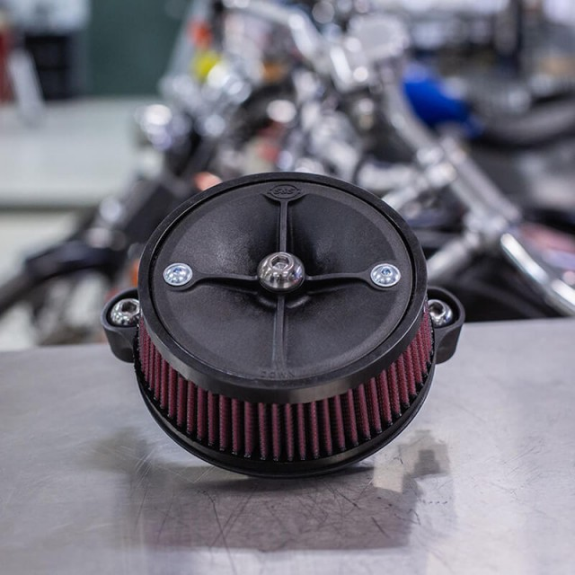 S&S STEALTH AIR CLEANER KIT FOR HARLEY TOURING/SOFTAIL 2018-2020 - ASSEMBLY