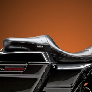 LE PERA SORRENTO STITCH 2-UP SEAT HARLEY TOURING 2008-2021 PAUL YAFFE TANK
