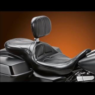 SELLA LE PERA MAVERICK STITCH SEAT CON SCHIENALINO HARLEY TOURING 2008-2021