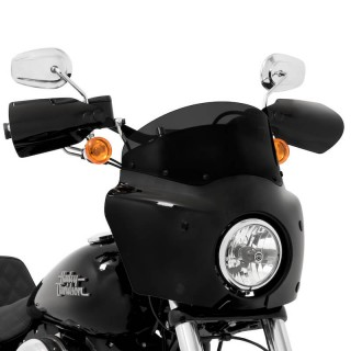 DARK BLACK 18cm WINDSHIELD FOR MEMPHIS SHADES ROAD WARRIOR FAIRING