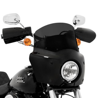 DARK BLACK 23cm WINDSHIELD FOR MEMPHIS SHADES ROAD WARRIOR FAIRING