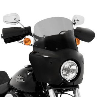 28cm BLACK SMOKE WINDSHIELD FOR MEMPHIS SHADES ROAD WARRIOR FAIRING