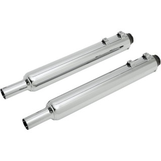 "SUPERTRAPP SUPER ELITE 3-1/2"" CHROME SLIP-ONS MUFFLER HARLEY TOURING 2010-2016"