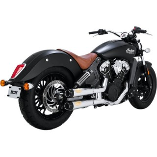 RSD TRACK SLIP-ON MUFFLERS CHROME FOR INDIAN SCOUT 2015-2020