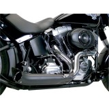 SUPERTRAPP PHANTOM II 2-IN-1 CHROME BLACK EXHAUST FOR HARLEY SOFTAIL/DYNA 2012-2017 - ZOOM
