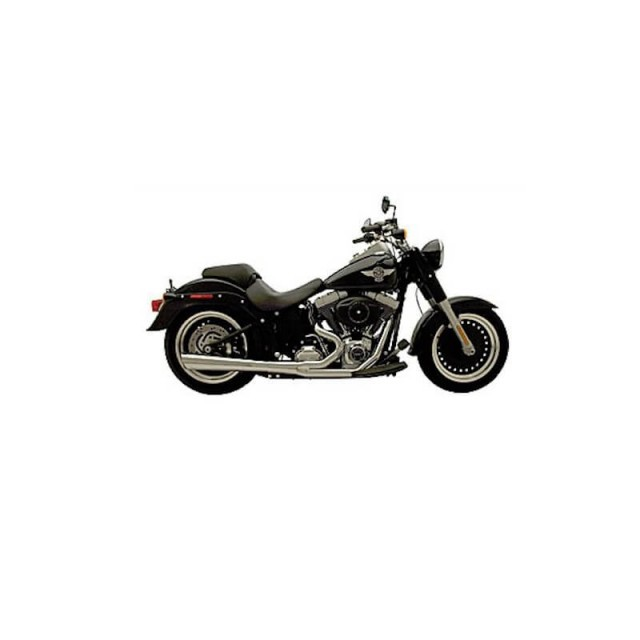 SUPERTRAPP SUPERMEG 2-IN-1 CHROME EXHAUST FOR HARLEY SOFTAIL 1986-2011