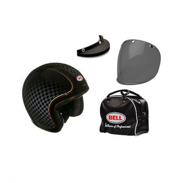 BELL CUSTOM 500 DLX SE RSD CHECK IT BLACK-GOLD HELMET - PACK