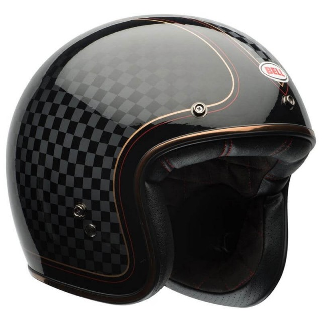 BELL CUSTOM 500 DLX SE RSD CHECK IT BLACK-GOLD HELMET
