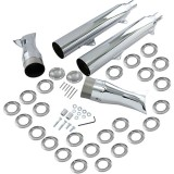 SUPERTRAPP FISHTAIL CHROME MUFFLERS FOR HARLEY SOFTAIL SPRINGER 2000-2007 - COMPONENTS