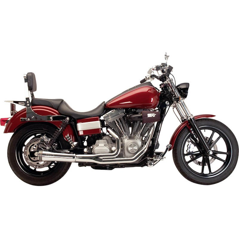 SUPERTRAPP FATSHOT 2-IN-1 CHROME EXHAUST FOR HARLEY DYNA 2012-2017