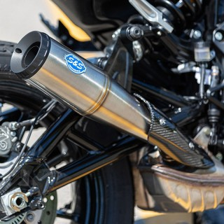 S&S GRAND NATIONAL INOX MUFFLER FOR INDIAN FTR 1200S 2019-2020 - ZOOM