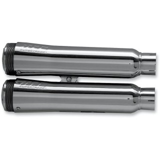"SUPERTRAPP FATSHOTS 4"" CHROME MUFFLERS FOR HARLEY V-ROD 2006-2017"