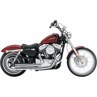 COBRA SPEEDSTER SHORT CHROME EXHAUST FOR HARLEY SPORTSTER XL 2007-2013