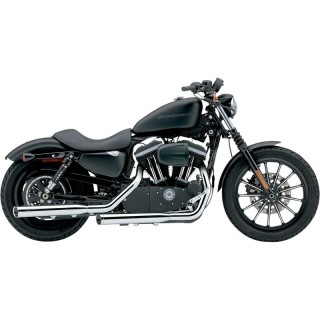 "COBRA SLIP-ONS 3"" CHROME MUFFLERS FOR HARLEY SPORTSTER XL 2004-2013"