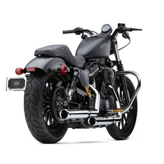 COBRA NEIGHBORHOOD HATER CHROME MUFFLERS FOR HARLEY SPORTSTER XL 2014-2021