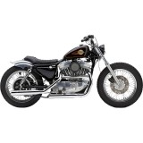 COBRA NEIGHBORHOOD HATER CHROME MUFFLERS FOR HARLEY SPORTSTER XL 1986-2003 - SIDE