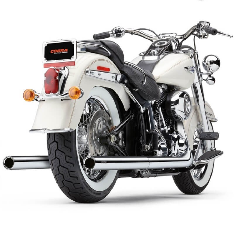 COBRA TRUE DUALS 2-IN-2 CHROME EXHAUST FOR HARLEY SOFTAIL 2000-2006