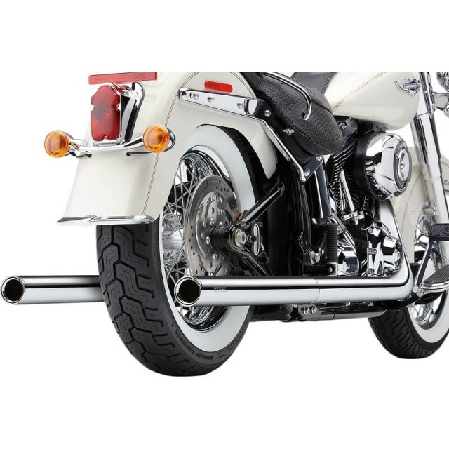 COBRA TRUE DUALS 2-IN-2 CHROME EXHAUST FOR HARLEY SOFTAIL 2000-2006 - DETAIL