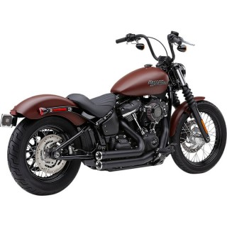 COBRA SPEEDSTER SHORT RPT BLACK EXHAUST SOFTAIL DELUXE, SLIM, STREET BOB, LOW RIDER