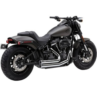 COBRA SPEEDSTER SHORT RPT CHROME EXHAUST FOR HARLEY SOFTAIL FAT BOB 2018-2020