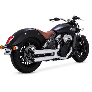VANCE HINESTWIN SLASH SLIP-ONS CHROME INDIAN SCOUT 2015-2021