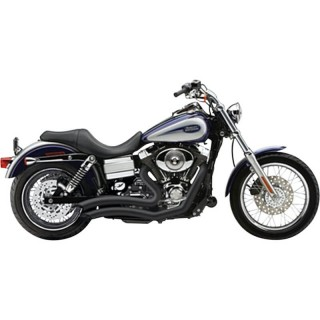 COBRA SPEEDSTER SHORT SWEPT BLACK EXHAUST FOR SOFTAIL BREAKOUT 2013-2017