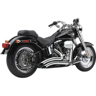COBRA SPEEDSTER SHORT SWEPT CHROME EXHAUST FOR HARLEY SOFTAIL 2012-2017