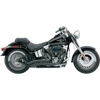 COBRA SPEEDSTER SHORT SWEPT BLACK EXHAUST FOR HARLEY SOFTAIL 2007-2011