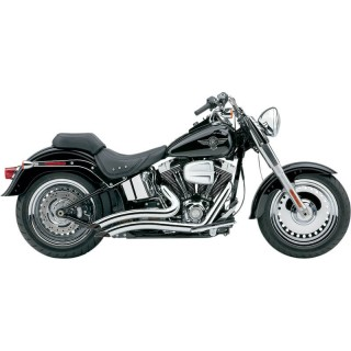 COBRA SPEEDSTER SHORT SWEPT CHROME EXHAUST FOR HARLEY SOFTAIL 2007-2011