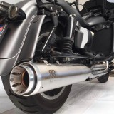 """RED THUNDER APPROVED MUFFLERS 4,5"""" SATIN SLIP-ON FOR HARLEY TOURING 1999-2016 - DETAIL"""
