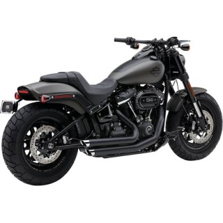 COBRA SLASHDOWN SPEEDSTER BLACK EXHAUST FOR HARLEY SOFTAIL FAT BOB 2018-2020