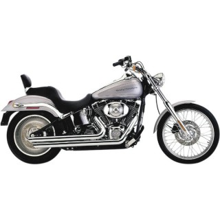 COBRA SLASHDOWN SPEEDSTER CHROME EXHAUST FOR HARLEY SOFTAIL 2012-2017