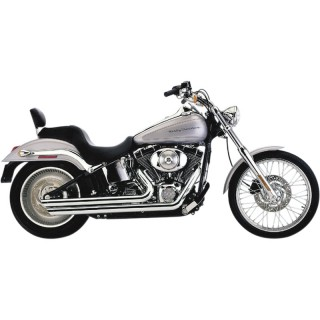 COBRA SLASHDOWN SPEEDSTER CHROME EXHAUST FOR HARLEY SOFTAIL 2007-2012