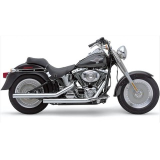 SCARICHI COBRA DRAGSTERS CROMO PER HARLEY SOFTAIL 2000-2006