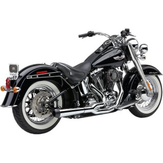 COBRA EL DIABLO 2-IN-1 CHROME EXHAUST FOR HARLEY DAVIDSON SOFTAIL 2012-2017