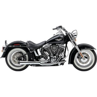 COBRA EL DIABLO 2-IN-1 CHROME EXHAUST FOR HARLEY DAVIDSON SOFTAIL 2007-2011 - SIDE