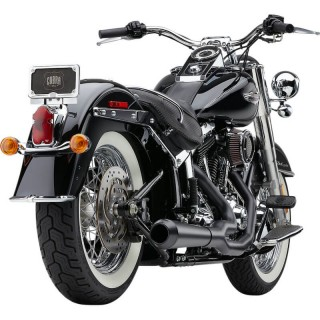 COBRA EL DIABLO 2-IN-1 BLACK EXHAUST FOR HARLEY DAVIDSON SOFTAIL 2007-2011 - DETAIL