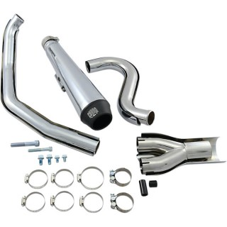 COBRA EL DIABLO 2-IN-1 CHROME EXHAUST FOR HARLEY DAVIDSON SOFTAIL 1986-2006