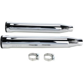 "COBRA RPT SLIP-ONS 3"" CHROME MUFFLERS FOR HARLEY SOFTAIL 2007-2017 - SIDE"
