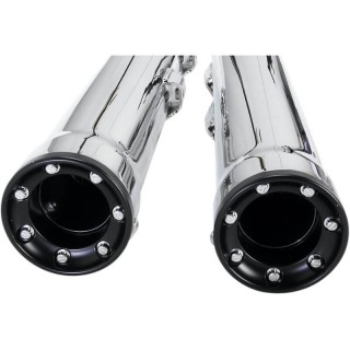 "COBRA RPT SLIP-ONS 3"" CHROME MUFFLERS FOR HARLEY DAVIDSON SOFTAIL 2000-2006 - END CAPS"