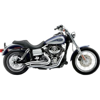 COBRA SPEEDSTER SHORT SWEPT CHROME EXHAUST FOR HARLEY SOFTAIL DYNA 2012-2017