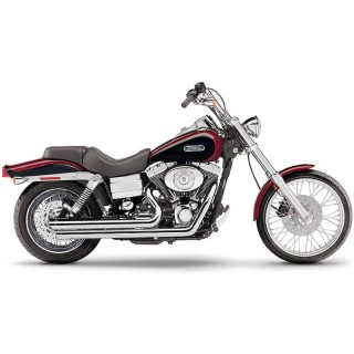 COBRA SPEEDSTER SLASHDOWN CHROME EXHAUST FOR HARLEY DAVIDSON DYNA 2006-2011