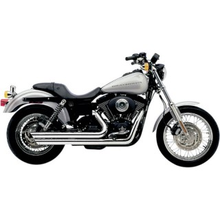 COBRA SPEEDSTER SLASHDOWN CHROME EXHAUST FOR HARLEY DAVIDSON DYNA 1999-2005