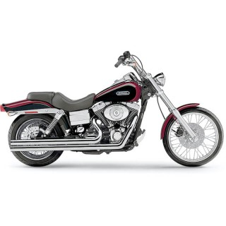 COBRA SPEEDSTER LONG CHROME EXHAUST FOR HARLEY DAVIDSON DYNA 2006-2011