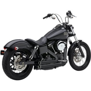 COBRA SPEEDSTER 909 BLACK EXHAUST FOR HARLEY DAVIDSON DYNA 2012-2017
