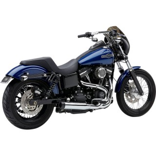 "COBRA EL DIABLO ROUND 2-IN-1 CHROME 3,5"" EXHAUST FOR HARLEY DAVIDSON DYNA 2006-2011"