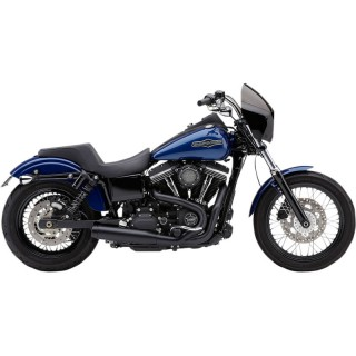 "COBRA EL DIABLO ROUND 2-IN-1 BLACK 3,5"" EXHAUST FOR HARLEY DAVIDSON DYNA 2012-2017 - SIDE"